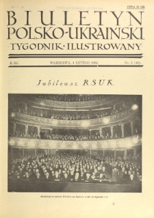 Biuletyn Polsko-Ukraiński. T. 3, R. 3, nr 5=40 (4 Lutego 1934)