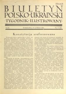 Biuletyn Polsko-Ukraiński. T. 3, R. 3, nr 6=41 (11 Lutego 1934)