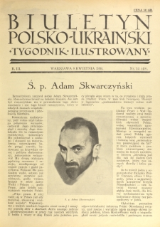 Biuletyn Polsko-Ukraiński. T. 3, R. 3, nr 14=49 (8 Kwietnia 1934)