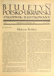 Biuletyn Polsko-Ukraiński. T. 3, R. 3, nr 15=50 (15 Kwietnia 1934)