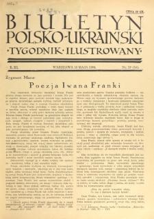 Biuletyn Polsko-Ukraiński. T. 3, R. 3, nr 19=54 (13 Maja 1934)