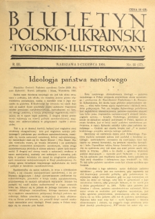 Biuletyn Polsko-Ukraiński. T. 3, R. 3, nr 22=57 (3 czerwca 1934)