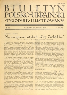 Biuletyn Polsko-Ukraiński. T. 3, R. 3, nr 23=58 (10 Czerwca 1934)