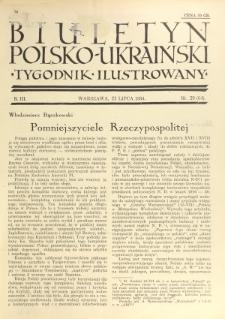 Biuletyn Polsko-Ukraiński. T. 3, R. 3, nr 29=64 (22 Lipca 1934)