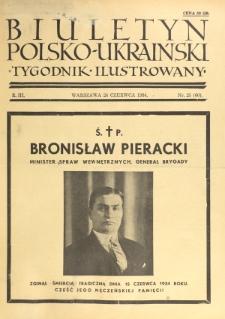 Biuletyn Polsko-Ukraiński. T. 3, R. 3, nr 25=60 (24 Czerwca 1934)