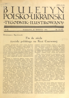 Biuletyn Polsko-Ukraiński. T. 3, R. 3, nr 32=66 (12 Sierpnia 1934)
