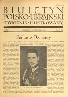 Biuletyn Polsko-Ukraiński. T. 3, R. 3, nr 39=74 (30 Września 1934)