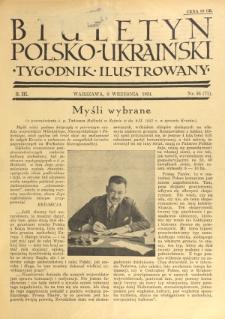 Biuletyn Polsko-Ukraiński. T. 3, R. 3, nr 36=71 (9 Września 1934)