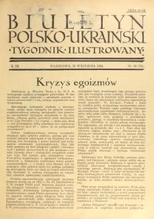 Biuletyn Polsko-Ukraiński. T. 3, R. 3, nr 38=73 (23 Września 1934)