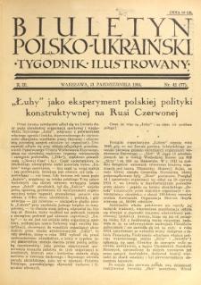 Biuletyn Polsko-Ukraiński. T. 3, R. 3, nr 42=77 (21 Października 1934)