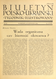 Biuletyn Polsko-Ukraiński. T. 3, R. 3, nr 47=82 (25 Listopada 1934)