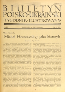 Biuletyn Polsko-Ukraiński. T. 3, R. 3, nr 50=85 (16 Grudnia 1934)
