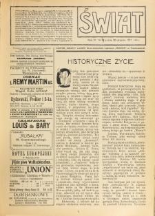 Świat : pismo tygodniowe ilustrowane poświęcone życiu społecznemu, literaturze i sztuce. R. 6 (1911), nr 4 (21 stycznia)