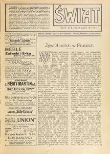 Świat : pismo tygodniowe ilustrowane poświęcone życiu społecznemu, literaturze i sztuce. R. 6 (1911), nr 3 (21 stycznia)