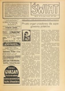 Świat : pismo tygodniowe ilustrowane poświęcone życiu społecznemu, literaturze i sztuce. R. 6 (1911), nr 10 (11 marca)