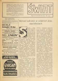 Świat : pismo tygodniowe ilustrowane poświęcone życiu społecznemu, literaturze i sztuce. R. 6 (1911), nr 11 (18 marca)