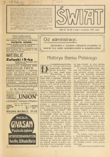 Świat : pismo tygodniowe ilustrowane poświęcone życiu społecznemu, literaturze i sztuce. R. 6 (1911), nr 13 (1 kwietnia)