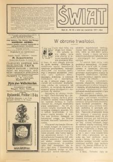 Świat : pismo tygodniowe ilustrowane poświęcone życiu społecznemu, literaturze i sztuce. R. 6 (1911), nr 16 (22 kwietnia)