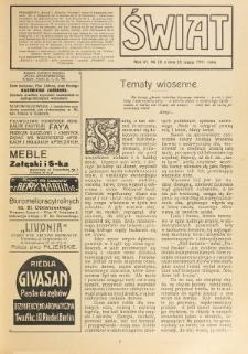 Świat : pismo tygodniowe ilustrowane poświęcone życiu społecznemu, literaturze i sztuce. R. 6 (1911), nr 19 (13 maja)