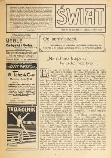 Świat : pismo tygodniowe ilustrowane poświęcone życiu społecznemu, literaturze i sztuce. R. 6 (1911), nr 25 (24 czerwca)