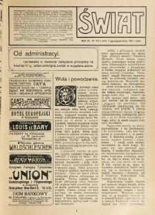 Świat : pismo tygodniowe ilustrowane poświęcone życiu społecznemu, literaturze i sztuce. R. 6 (1911), nr 40 (7 października)