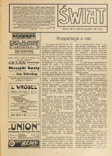 Świat : pismo tygodniowe ilustrowane poświęcone życiu społecznemu, literaturze i sztuce. R. 6 (1911), nr 51 (23 grudnia)