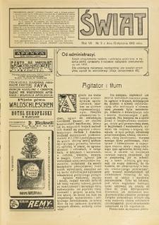 Świat : pismo tygodniowe ilustrowane poświęcone życiu społecznemu, literaturze i sztuce. R. 7 (1912), nr 2 (13 stycznia)