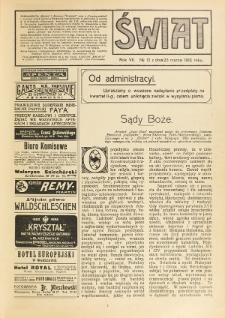Świat : pismo tygodniowe ilustrowane poświęcone życiu społecznemu, literaturze i sztuce. R. 7 (1912), nr 12 (23 marca)