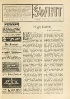 Świat : pismo tygodniowe ilustrowane poświęcone życiu społecznemu, literaturze i sztuce. R. 7 (1912), nr 9 (2 marca)