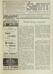 Świat : pismo tygodniowe ilustrowane poświęcone życiu społecznemu, literaturze i sztuce. R. 7 (1912), nr 31 (3 sierpnia)