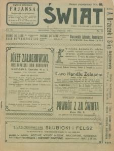 Świat : pismo tygodniowe ilustrowane poświęcone życiu społecznemu, literaturze i sztuce. R. 15 (1920), nr 14 (3 kwietnia)