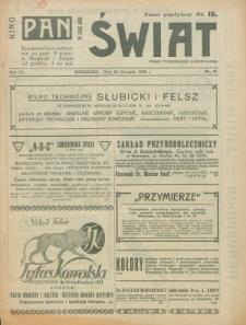 Świat : pismo tygodniowe ilustrowane poświęcone życiu społecznemu, literaturze i sztuce. R. 15 (1920), nr 47 (20 listopada)