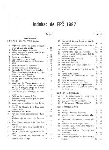 El Popola Ĉinio. (1987). Indekso