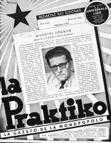 La Praktiko : la gazeto, kiu instruas kaj amuzas. Jaro 17a, nr 10=192 (1953)