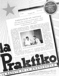 La Praktiko : la gazeto, kiu instruas kaj amuzas. Jaro 21a, nr 11=241 (1957)