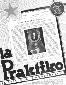 La Praktiko : la gazeto, kiu instruas kaj amuzas. Jaro 21a, nr 12=242 (1957)