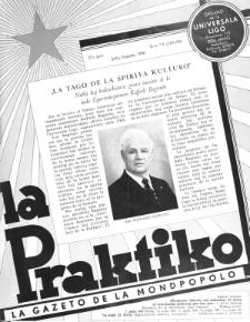 La Praktiko : la gazeto, kiu instruas kaj amuzas. Jaro 22a, nr 7/8=249/250 (1958)