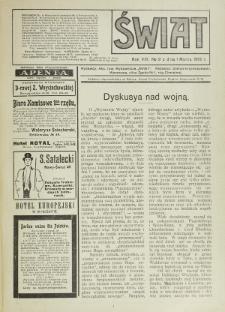 Świat : pismo tygodniowe ilustrowane poświęcone życiu społecznemu, literaturze i sztuce. R. 8 (1913), nr 9 (1 marca)