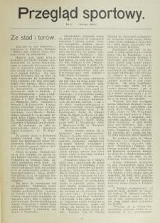 Przegląd Sportowy. Nr 3 (Marzec 1913)