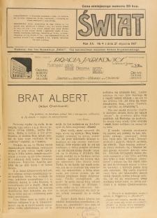 Świat : pismo tygodniowe ilustrowane poświęcone życiu społecznemu, literaturze i sztuce. R. 12 (1917), nr 4 (27 stycznia)