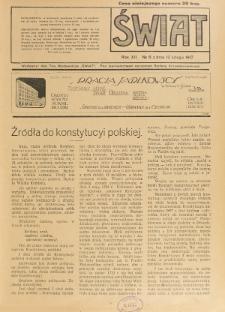 Świat : pismo tygodniowe ilustrowane poświęcone życiu społecznemu, literaturze i sztuce. R. 12 (1917), nr 6 (10 lutego)