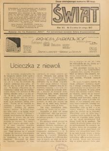 Świat : pismo tygodniowe ilustrowane poświęcone życiu społecznemu, literaturze i sztuce. R. 12 (1917), nr 8 (24 lutego)