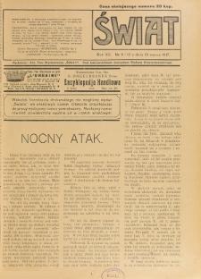 Świat : pismo tygodniowe ilustrowane poświęcone życiu społecznemu, literaturze i sztuce. R. 12 (1917), nr 9-10 (10 marca)
