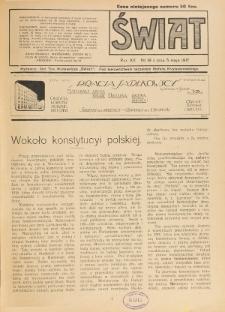 Świat : pismo tygodniowe ilustrowane poświęcone życiu społecznemu, literaturze i sztuce. R. 12 (1917), nr 18 (5 maja)