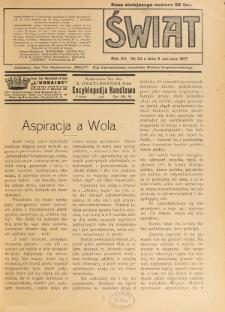 Świat : pismo tygodniowe ilustrowane poświęcone życiu społecznemu, literaturze i sztuce. R. 12 (1917), nr 23 (9 czerwca)