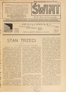 Świat : pismo tygodniowe ilustrowane poświęcone życiu społecznemu, literaturze i sztuce. R. 12 (1917), nr 24 (16 czerwca)