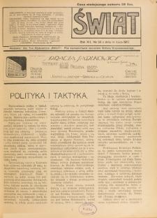 Świat : pismo tygodniowe ilustrowane poświęcone życiu społecznemu, literaturze i sztuce. R. 12 (1917), nr 28 (14 lipca)