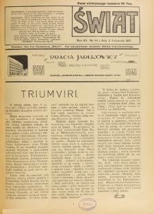 Świat : pismo tygodniowe ilustrowane poświęcone życiu społecznemu, literaturze i sztuce. R. 12 (1917), nr 44 (3 listopada)