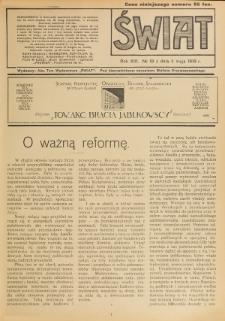 Świat : pismo tygodniowe ilustrowane poświęcone życiu społecznemu, literaturze i sztuce. R. 13 (1918), nr 18 (4 maja)