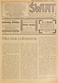 Świat : pismo tygodniowe ilustrowane poświęcone życiu społecznemu, literaturze i sztuce. R. 13 (1918), nr 29-30 (3 sierpnia)
